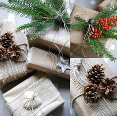 kerst cadeau natuurlijke materialen