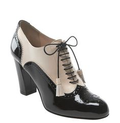 Bally's high heeled oxfords. Total perfection.