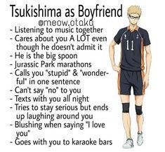 I need to watch haikyuu Haikyuu Tsukishima, Haikyuu Funny, Kuroo, Hinata Shouyou, Daisuga, Kagehina, Boyfriend Best Friend, Anime Boyfriend, Best Friend Love Quotes