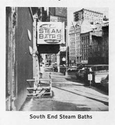 South End Steam Baths Steam Bath, City Boy, Books For Boys, Queen, Baths, Times Square, Street View, Travel, Viajes