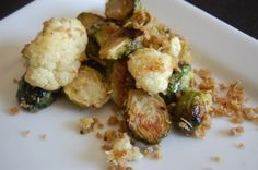 J. Alexander's copy cat recipe of Roasted Brussel Sprouts & Cauliflower with Panko breadcrumbs!