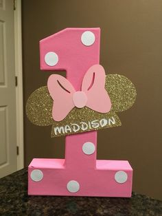 Excited to share this item from my shop: Minnie Mouse Custom Name Letters - price is per number Minnie Mouse Birthday Theme, 1st Birthday Party For Girls, Minnie Mouse Birthday Decorations, Minnie Mouse Favors, Minnie Mouse Pinata, 1st Birthdays, Numbers, Notes, Drop