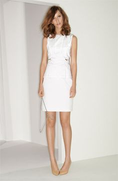 Dress in white. #Nordstrom #MarchCatalog find more women fashion ideas on www.misspool.com