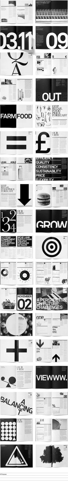 Lots of Black&White in the book as well as geometric elements.