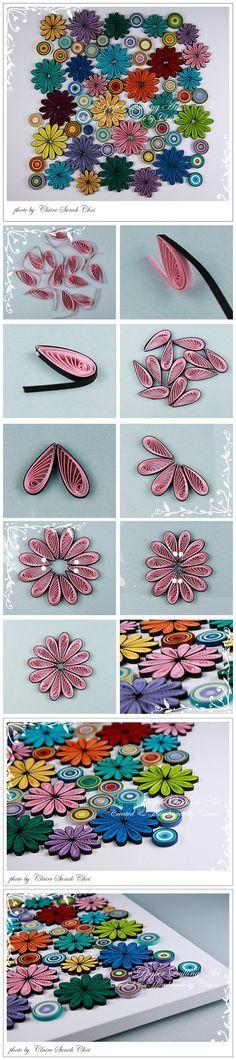 DIY - Flower quilled frame