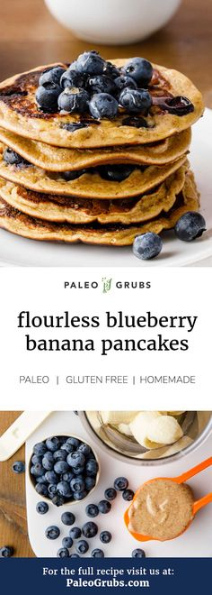 These are the best low carb paleo pancakes ever! So yummy. #paleo #pancakes #flourless
