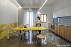 Hexágonos cerámicos. Nook Architects tiene claro que necesitan un material durable en el tiempo, higiénico y que por el carácter de las viviendas de alquiler, sea resistente y con mínimo mantenimiento