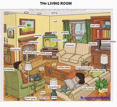 English For Beginners: the living room