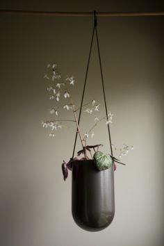 Black charcoal hanging planter via Etsy.