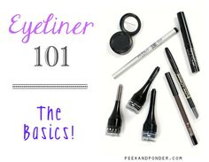 A basic eyeliner 101 guide for beginner makeup lovers. Learn about 4 types of eyeliners, their differences, and which one is best for you. Contour Makeup, Eye Makeup Tips, Makeup Tricks, Makeup Basics, Makeup Ideas, Edgy Makeup, Basic Makeup, Beauty Makeup, Eyeliner For Beginners
