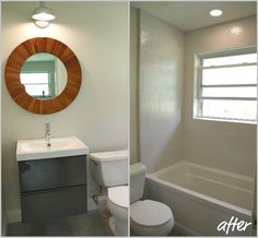 Bathroom Remodel House Tweaking I Really Love The Floating Sink Great For A Small