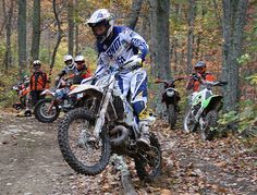 Graham Jarvis teaching us how to jump over a log at an angle @ Mt. Motorcycles, WV