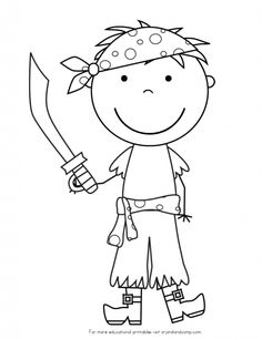 Pirate spot coloring pages ~ free pre k pirate color pages | to Z Kids Stuff | Pirate ...