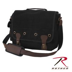 Rothco Canvas Trailblazer Laptop Bag now in Black