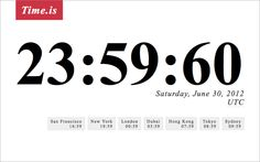 Leap second announced for June 30 2012
