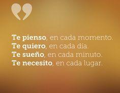 Te necesito...  Inspírate con más frases en... http://www.1001consejos.com/frases-de-amor/