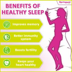 Sleep is more important than you may think. #HealthySleep helps keep your mind and body healthy..Here are some reasons why sleep is so important? #SleepBenefits #GoodNight