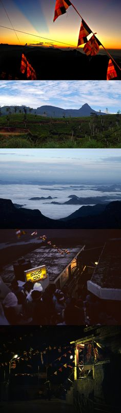 Adam's Peak (Sri Pada), Central Province, Sri Lanka #SriLanka #AdamsPeak #SriPada Adam's Peak, Buddhist Traditions, Thing 1, Tour Operator, Maldives, Sri Lanka, Airplane View, Traveling By Yourself, Tours
