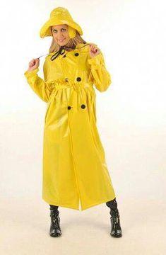 Raincoats For Women Rain Coats Yellow Coat, Yellow Raincoat, Plastic Raincoat, Pvc Raincoat, Parka, Rain Bonnet, Rain Hat, Langer Mantel, Walking In The Rain