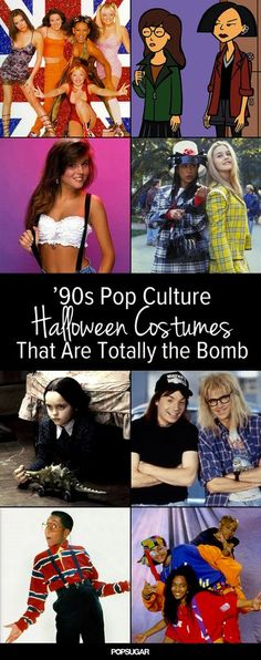 Your Halloween On With These Brilliant Costumes Don't let Halloween sneak up on you! Get ready with these bangin' costumes.Don't let Halloween sneak up on you! Get ready with these bangin' costumes. Costume Halloween, Halloween Costumes Pop Culture, Theme Halloween, Halloween Diy, Best 90s Costumes, 90s Themed Costumes, 1990s Costume Ideas, Tlc Costume, 90s Party Costume