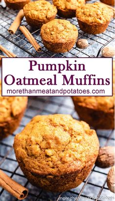 Start your day with our fresh-baked pumpkin oatmeal muffins. These flavorful muffins are the perfect treat for pumpkin season! #morethanmeatandpotatoes Pumpkin Oatmeal Muffins, Pumpkin Spice Coffee, Spiced Coffee, Pumpkin Loaf, Cheese Pumpkin, Healthy Pumpkin Bread, Oatmeal Breakfast Muffins, Fresh Pumpkin Recipes, Breakfast Cookies