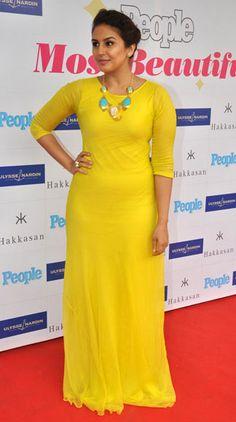 Actress Huma Qureshi looked striking in her canary maxi dress Bollywood Actress Hot Photos, Indian Bollywood Actress, Bollywood Celebrities, Indian Actresses, Bollywood Fashion, Actress Photos, Beautiful Girl Indian, Most Beautiful Indian Actress, Beautiful Lips