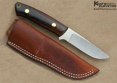 Bob Dozier Custom Knife Rosewood Drop Point Hunter - Bob Dozier custom knife -
