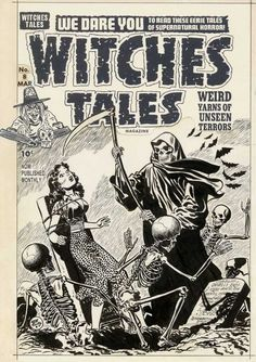Witches Tales #8 cover - Lee Elias Comic Art