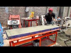 MESA VIBRADORA - moldes de plataforma de cerco - FAMACON - YouTube