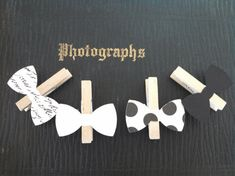 Bow Tie Clothespin Baby Shower Decoration Dont Say Baby Game Bowtie Clothes Pin Clips Birthday Wedding Place Card Drink Baby Games, Baby Shower Games, Baby Shower Parties, Baby Boy Shower, Man Shower, Baby Decor, Baby Shower Decorations, Dont Say Baby Game, Diy For Men