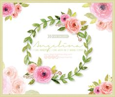 Un favorito personal de mi tienda Etsy https://www.etsy.com/mx/listing/268000775/marco-flores-en-acuarela-clipart-png