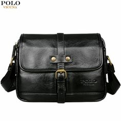 86573a40c08a MIOHS VICUNA POLO Man Brand Vintage Messenger Bag Front Pocket Leather Men  Vintage Messenger Bag