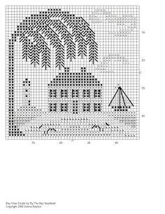 By The Bay Needleart: бесплатный дизайн willow tree house sampler cross stitch