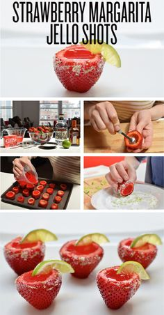 Strawberry Margarita Jello Shots- hmm this says Yearly Tubing Trip to me! Party Drinks Alcohol, Party Food And Drinks, Drinks Alcohol Recipes, Yummy Drinks, Strawberry Margarita Jello Shots, Jelly Shots, Jello Shot Recipes, Best Party Food, Love Eat