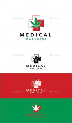 Medical Marijuana Logo Design Template Vector #logotype Download it here: http://graphicriver.net/item/medical-marijuana/11242758?s_rank=1475?ref=nesto