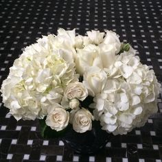 Shades of white. Hydrangea and roses