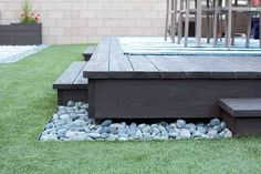 Resultado de imagem para how to build a floating deck on dirt