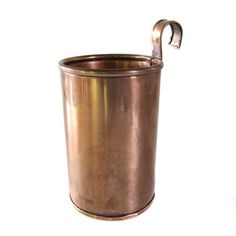 A perfect copper cup with a vintage inspired look. Utilitarian hook for alternate hanging over a towel bar, ladder rung,...
