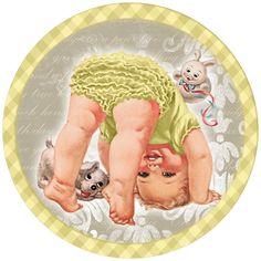 Preciosa bebita: para Toppers, Etiquetas o Tarjetas para Imprimir Gratis.