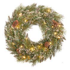 Argos House of Heart prelit snowtipped wreath 19.99
