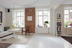 Swedish Inspiration – White Apartment in Goteborg - http://freshome.com/2009/10/27/swedish-inspiration-white-apartment-in-goteborg/