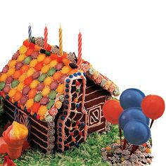 Make a Gingerbread House.  Decide on the type of house you will build: thatched-roof cottage, cabin, holiday theme, etc. Purchase decorative materials to give the house to life and interest....  http://farmersmarketonline.com/howto24.htm