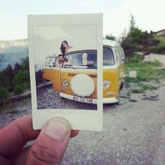 seventies_combi Mini, Tumblr, Vw T1, Polaroid Film, Orange, Tumbler