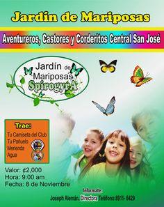 Jardin de Mariposas Spirogyra. Aventureros,Castores y Corderitos,Central San José