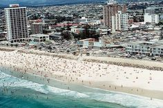 Surfers Paradise - Here is an aerial view taken in the early 1970s when new unit blocks were emerging.