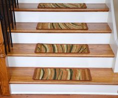 Washable Non-Skid Carpet Stair Treads - Jazzy Terra Cotta Terracotta, Step Treads, Decor, Rugs, Carpet, Carpet Stair Treads, Washable, Stair Treads, Contemporary Rugs