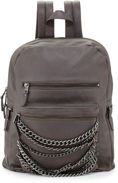 CLICK FOR AN AMAZING DEAL. Ash Domino Chain Large Leather Backpack, Elephant