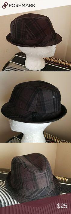 CONVERSE BLACK & GREY MEN'S FEDORA HAT CONVERSE BLACK & GREY MEN'S FEDORA HAT.  Size M/L Converse Accessories Hats
