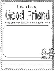 Image result for helping others worksheet kindergarten
