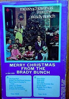 RARE-Merry-Christmas-from-the-Brady-Bunch-cassette-GRT-records-1969-VG